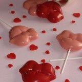 Piruletas de chocolate para San Valentín