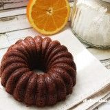 Mini bundt cake de chocolate y naranja