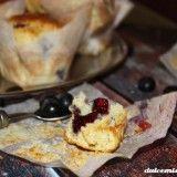 Aprende como hacer la receta de muffins de arandanos y yogurt