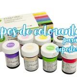 Tipos de colorantes para repostería