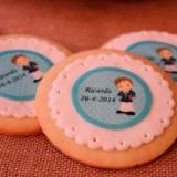 Decorar galletas de comunión con papel de azúcar