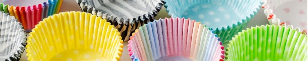 Cápsulas de papel para cupcakes y muffins. Wrappers, moldes
