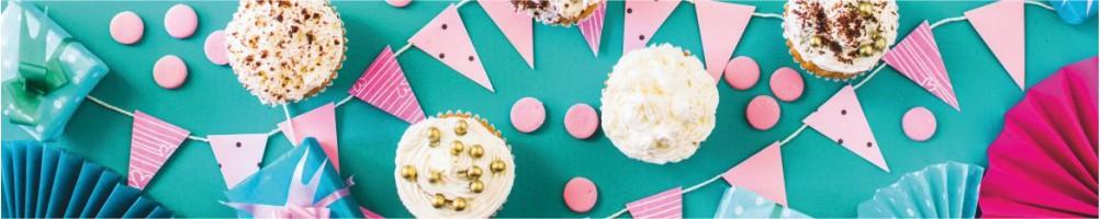 Comprar artículos de decoración y repostería fiestas cumpleaños