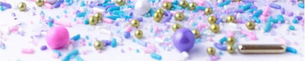 Decoraciones alimentos: gel, purpurina comestibles, repostería
