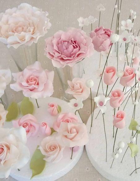 Flores de respostería