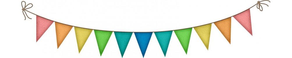 Comprar banderines, guirnaldas y abanicos originales   Dulcemisú